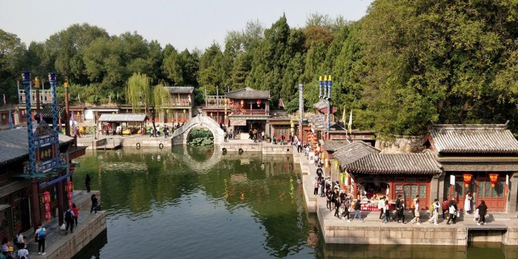 Sommerpalast Peking Suzhou Straße