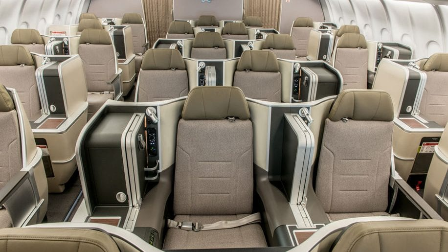 TAP A330 Business Class Staggered