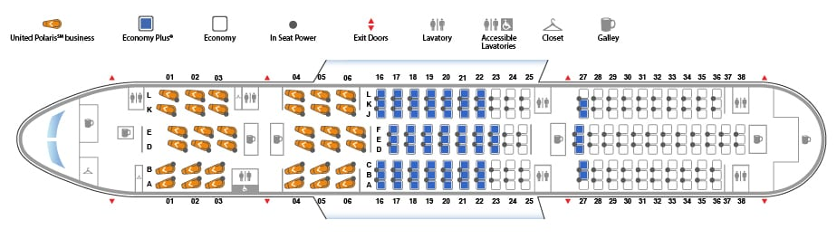 UA Sitzplan B788