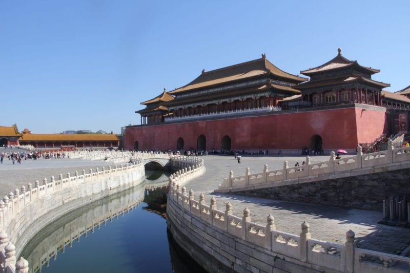 Verbotene Stadt Meridian Tor Peking