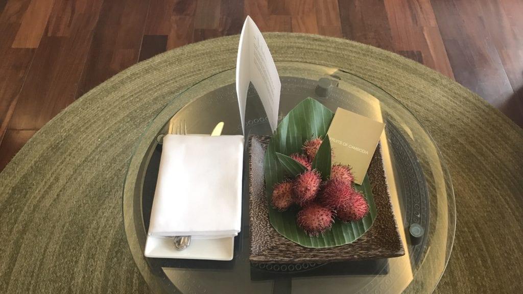 Anantara Angkor Resort Zimmer Früchte