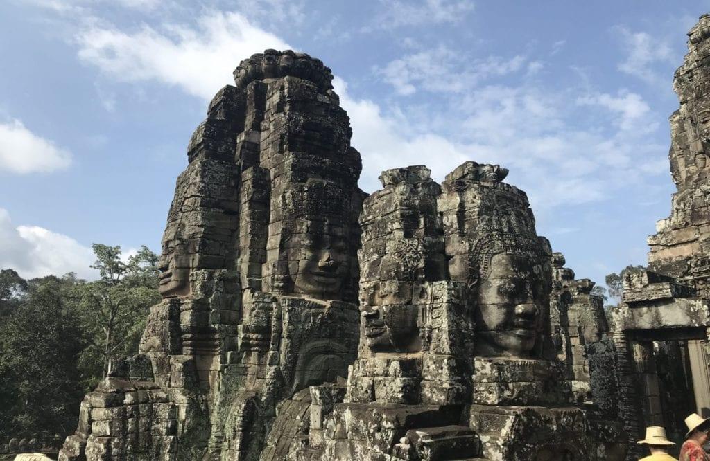 Angkor Thom Gesichter Im Stein