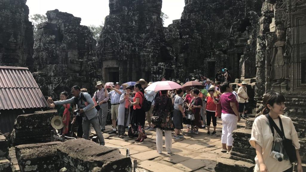 Angkor Thom Touristen