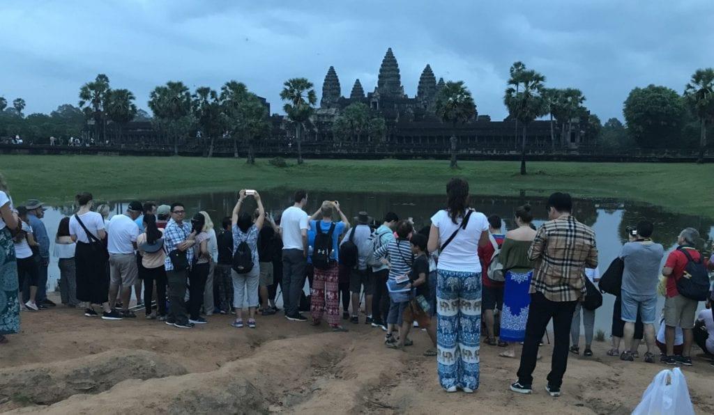 Angkor Wat Sonnenaufgang Touristen