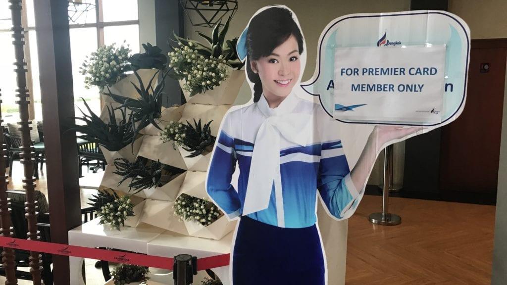 Bangkok Airways Lounge Siem Reap Eingang Premier Card Bereich