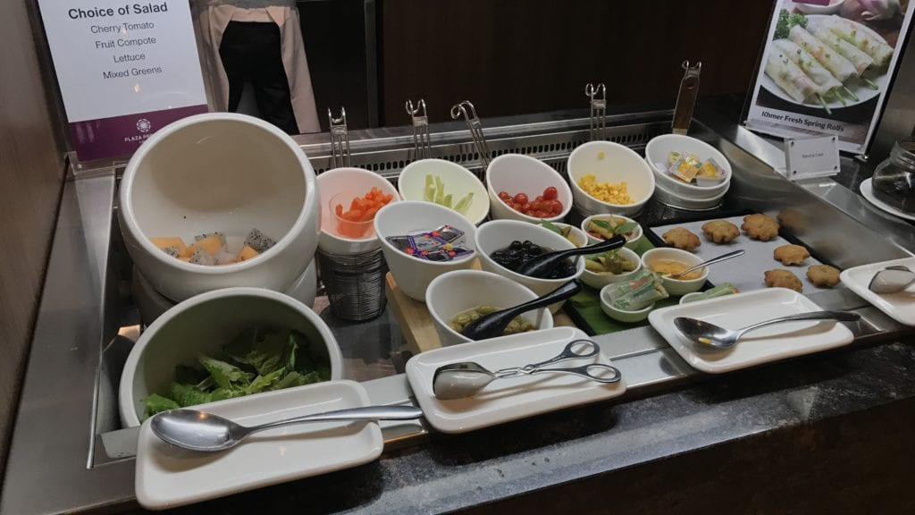 Plaza Premium Lounge Siem Reap Kalte Speisen