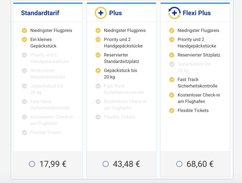 Tarife Ryanair