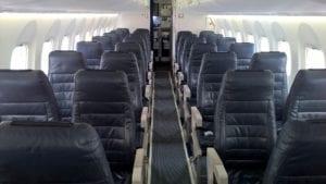 Air Baltic Economy Class Kabine