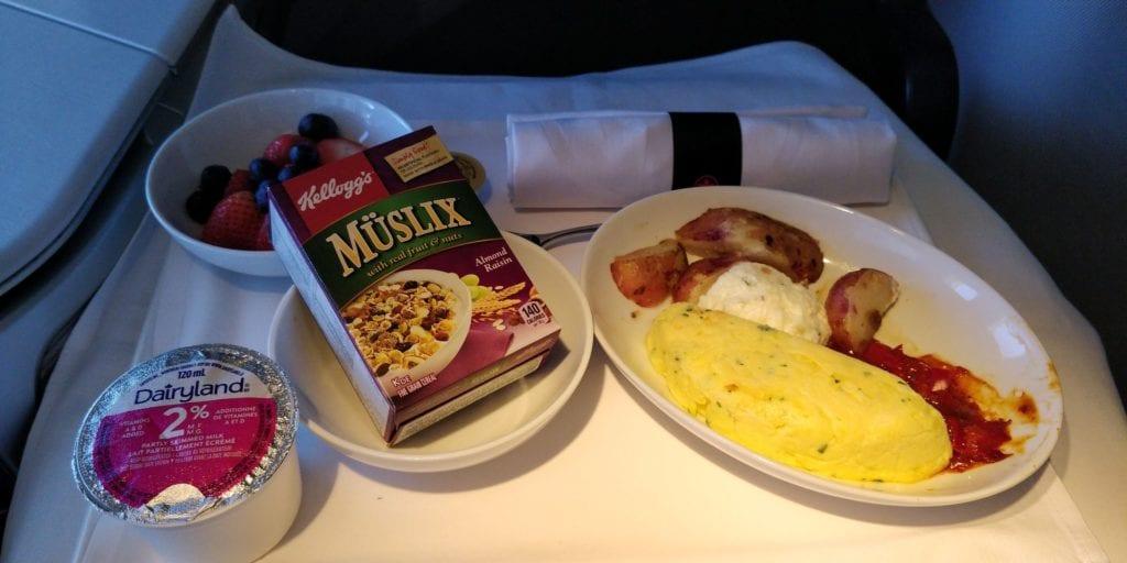 Air Canada Business Class Essen 2