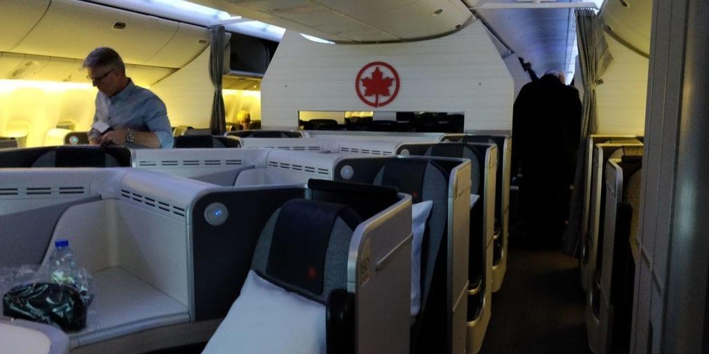 Air Canada Business Class Sitz 6