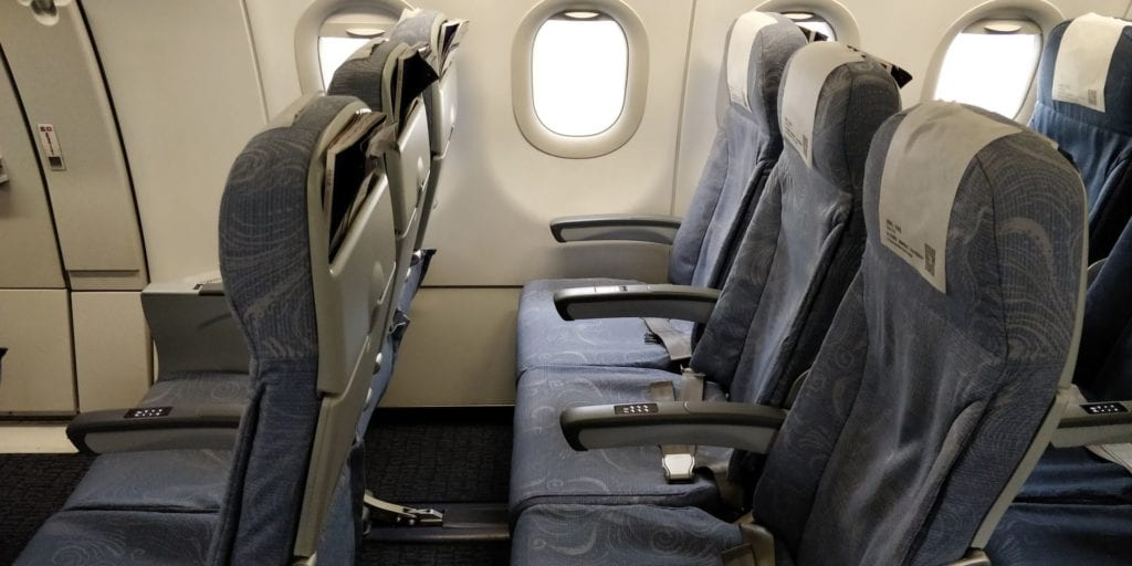 Air China Economy Class Kurzstrecke Sitz 2