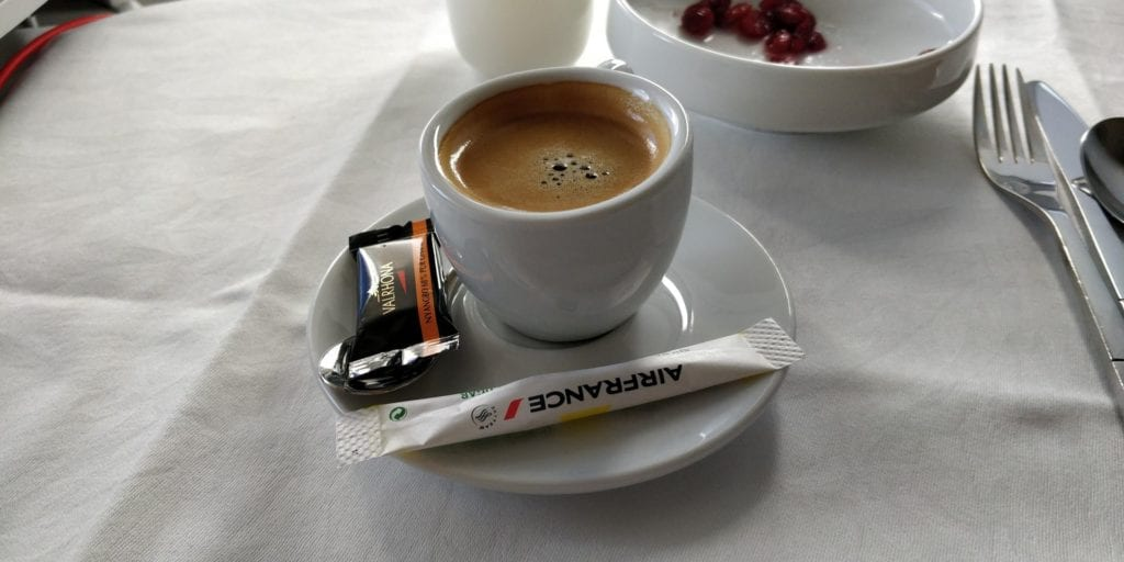 Air France Business Class Boeing 777 Espresso
