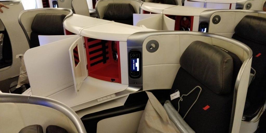 Air France Business Class Boeing 777 Sitz 1