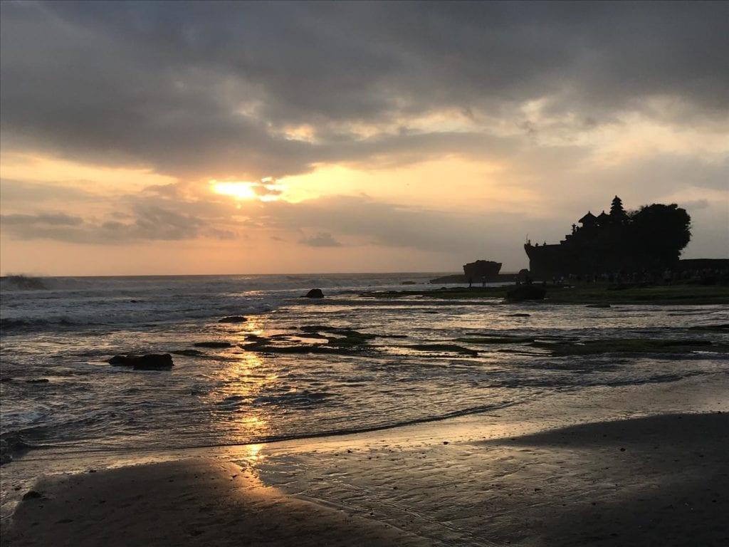Bali Tanah Lot Tempel Sonnenuntergang