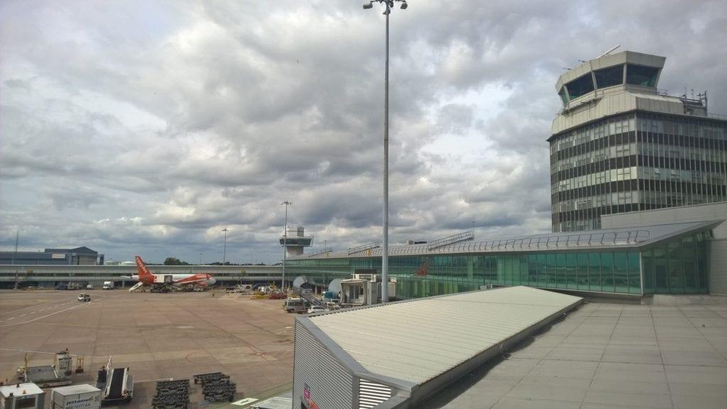British Airways Lounge Manchester Ausblick