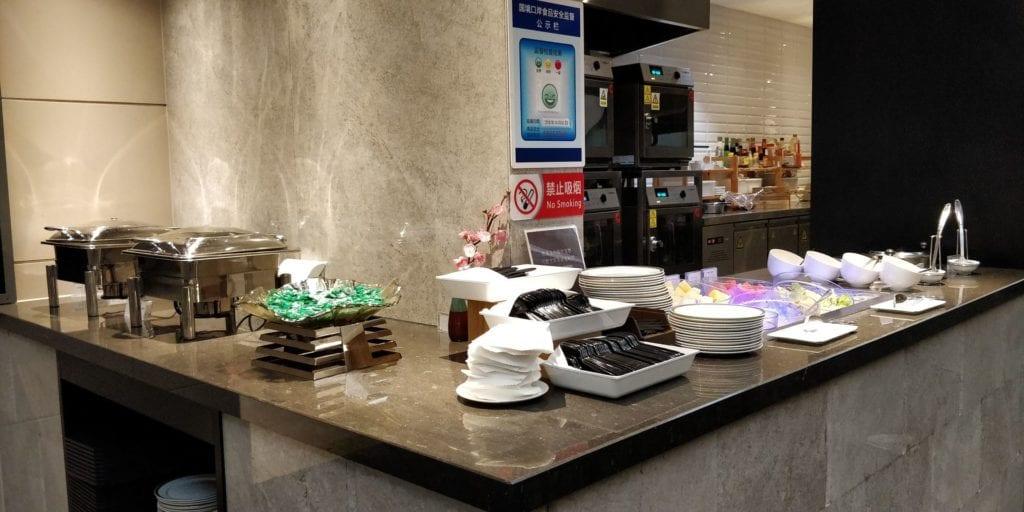 China Eastern Plaza Premium Lounge Shanghai Pudong Buffet