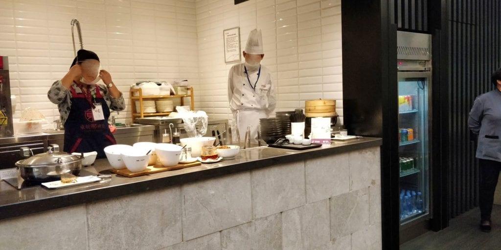 China Eastern Plaza Premium Lounge Shanghai Pudong Buffet 8