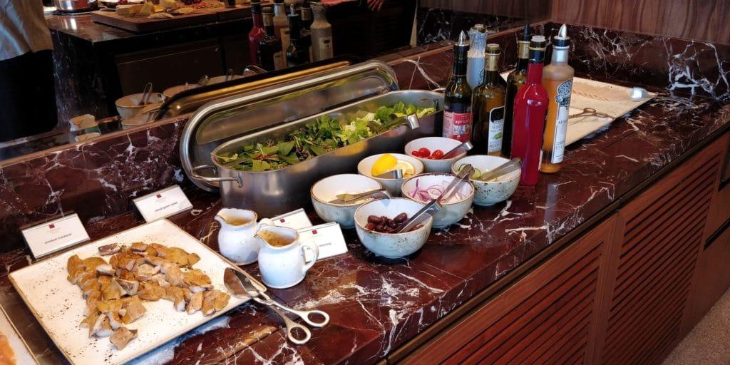 Conrad Singapur Executive Lounge Frühstück