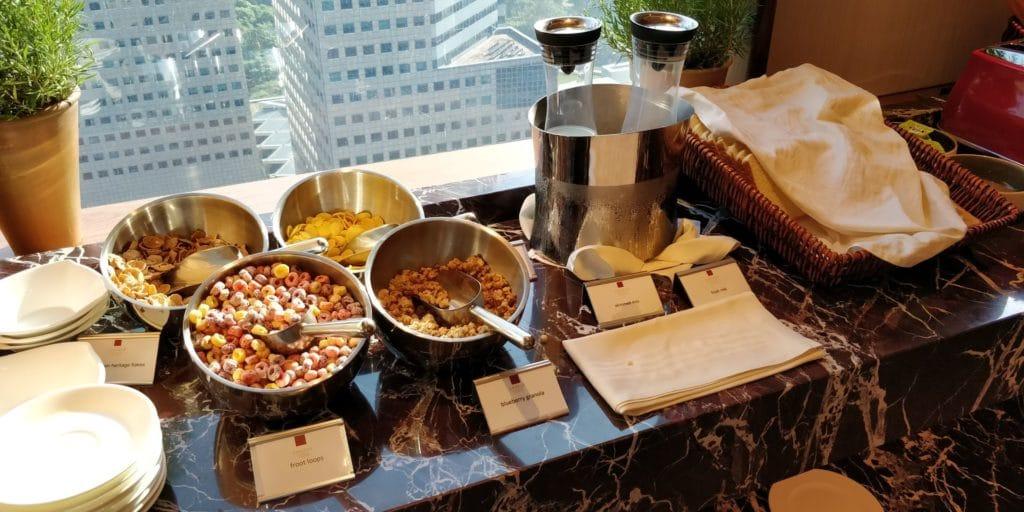Conrad Singapur Executive Lounge Frühstück 5