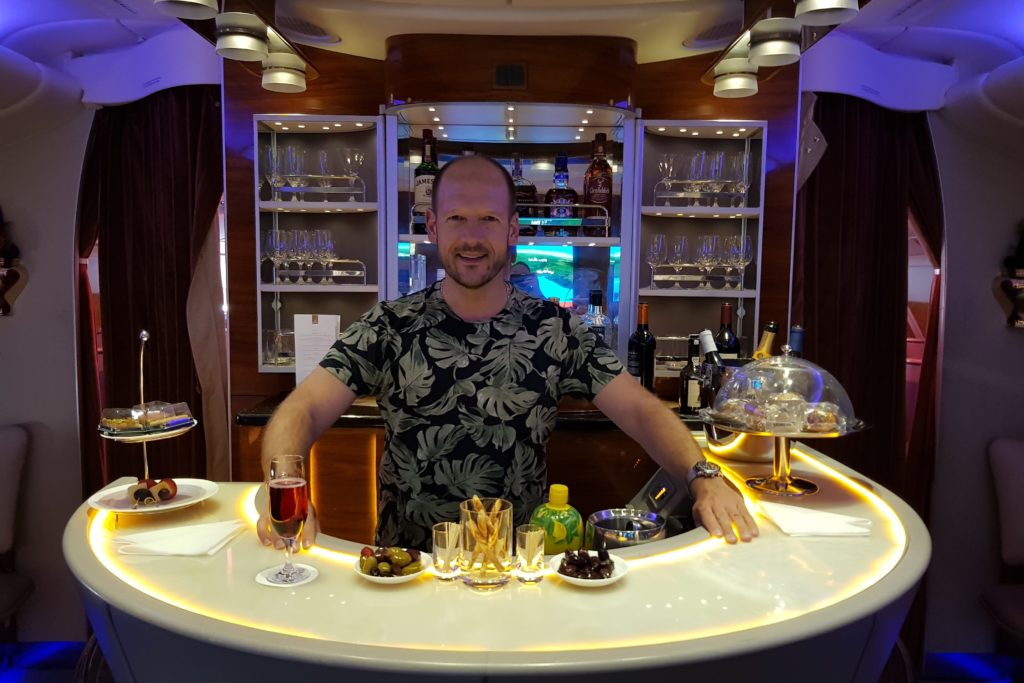 Emirates Airbus A380 Business Class Christian