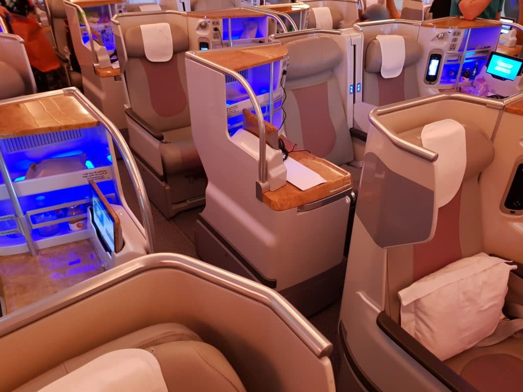Emirates Business Class Airbus A380 Sitze