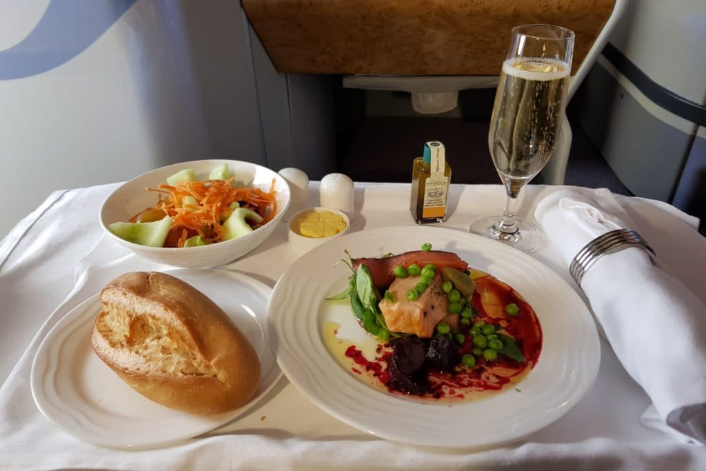 Emirates Business Class Airbus A380 Vorspeise