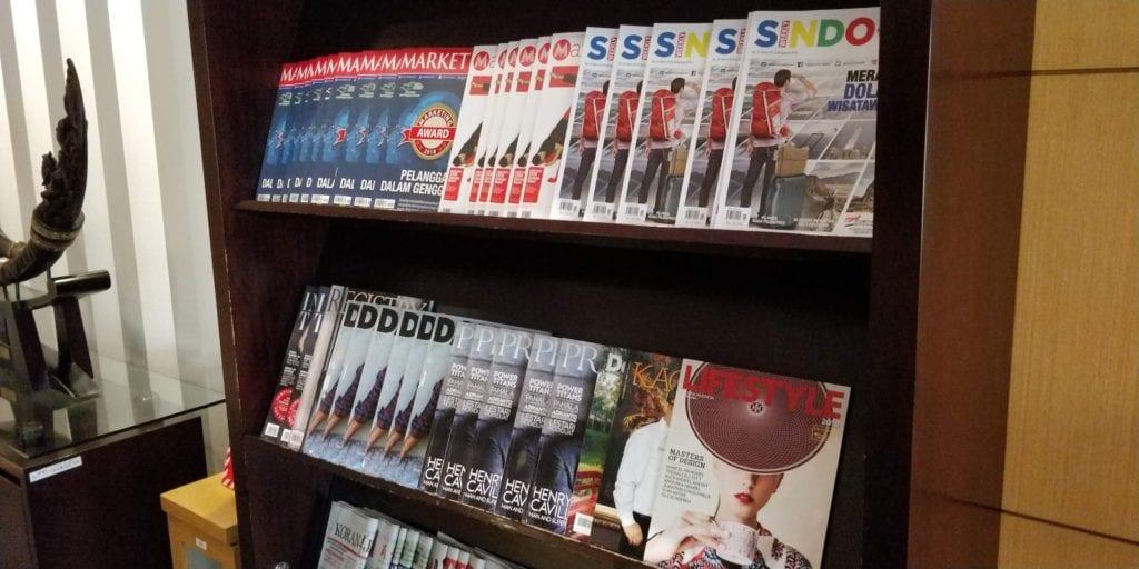 Esplanade Lounge Jakarta Zeitschriften