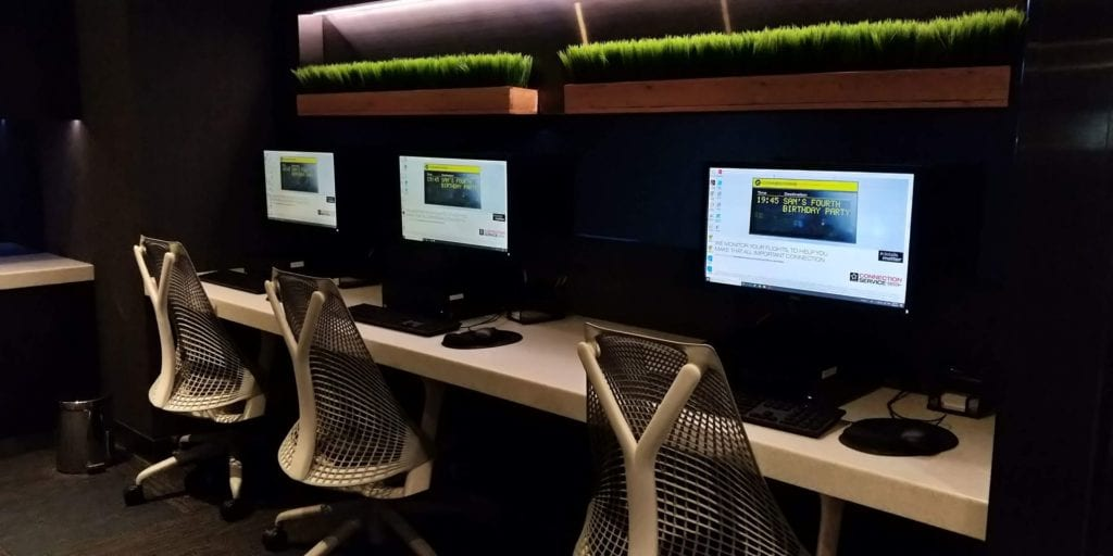 Eva Air Lounge Bangkok Computer