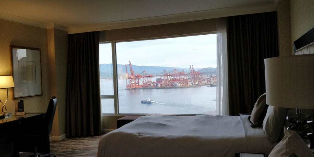 Fairmont Waterfront Vancouver Blick Zimmer
