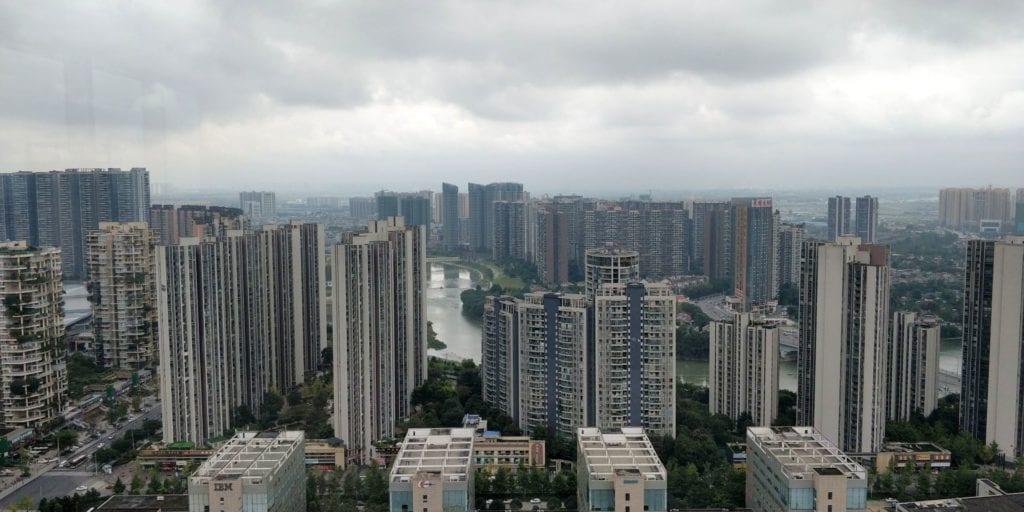 Hilton Chengdu Lounge Ausblick