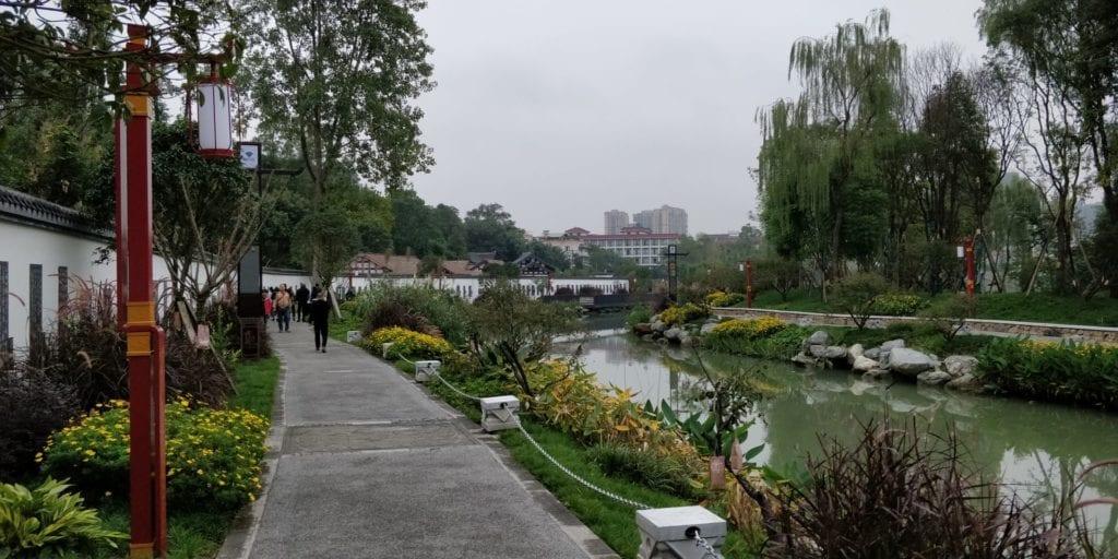 Huanhua Fluss Chengdu