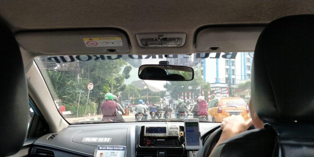 Jakarta Mononumen Nasional Grab Motoroller
