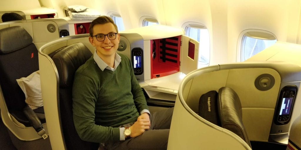 Moritz Stoldt In Der Air France Business Class Boeing 777