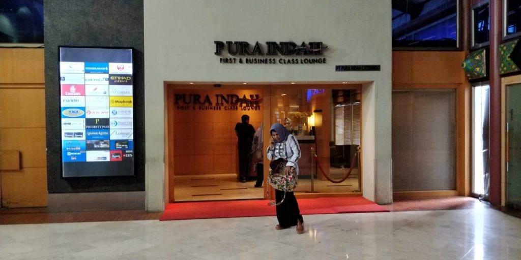 Pura Indah Lounge Jakarta Eingang