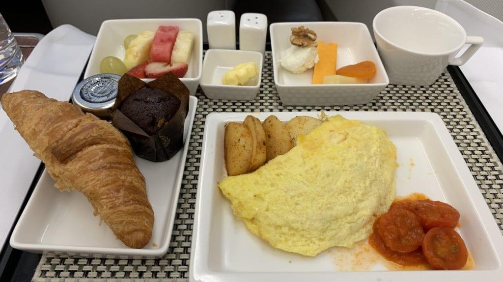 Saudia A330 Business Class Essen 4