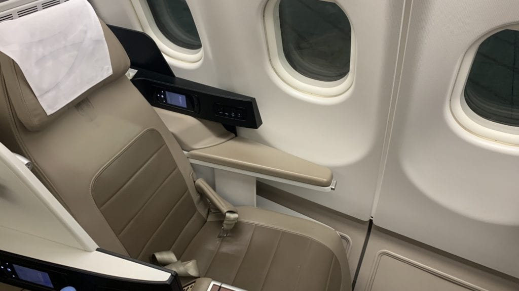 Saudia Business Class Airbus A330 Sitz 1