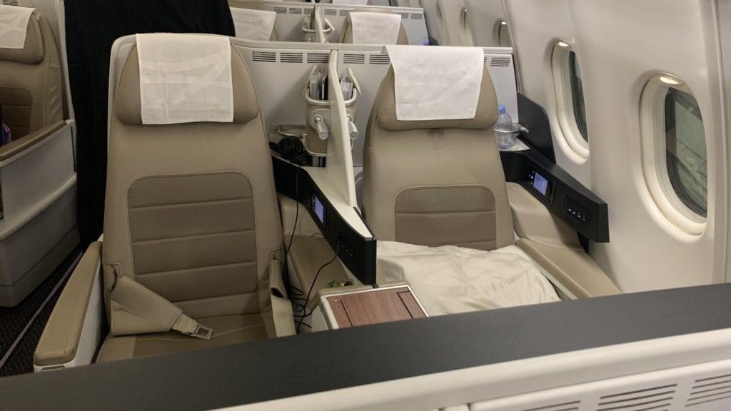 Saudia Business Class Airbus A330 Sitz 2