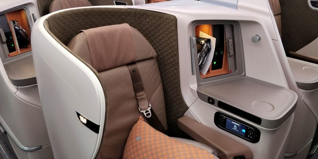 Singapore Airlines Business Class Boeing 787 10 Sitz 7