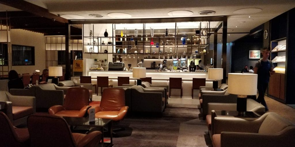 Singapore Airlines SilverKris Lounge Bangkok Bar 1