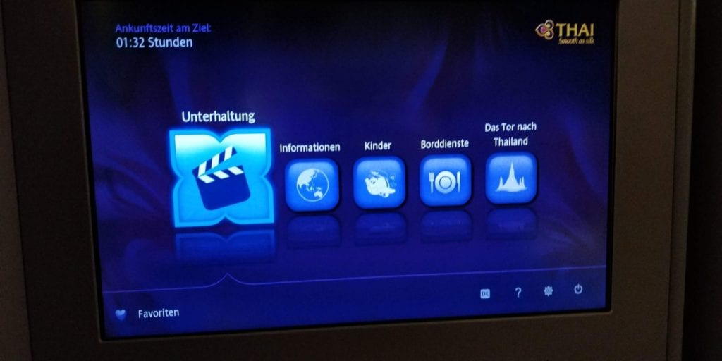 Thai Airways Business Class Boeing 777 Entertainment 1