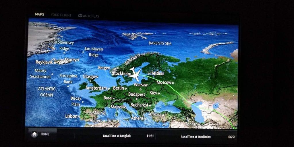 Thai Airways Business Class Boeing 777 Entertainment 3