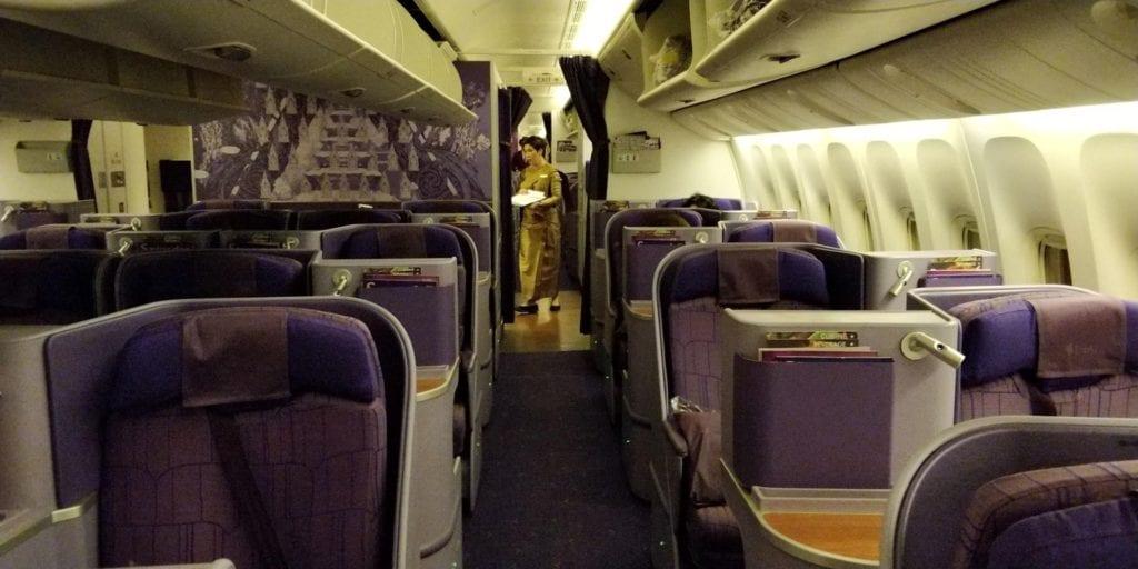 Thai Airways Business Class Boeing 777 Kabine