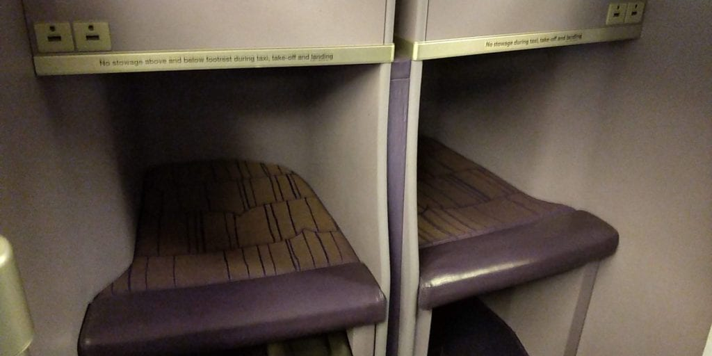 Thai Airways Business Class Boeing 777 Sitz 1