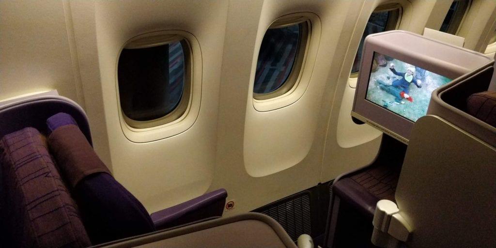 Thai Airways Business Class Boeing 777 Sitz 3