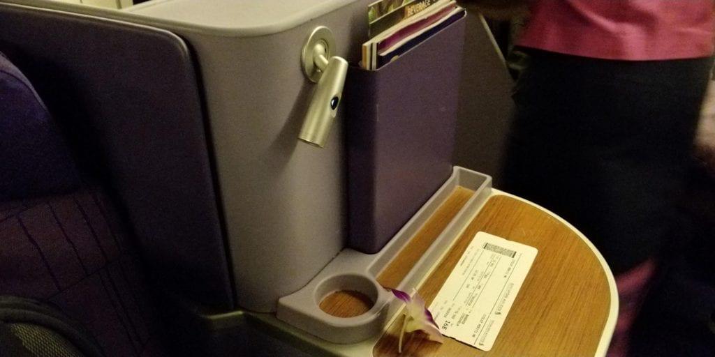 Thai Airways Business Class Boeing 777 Sitz 4
