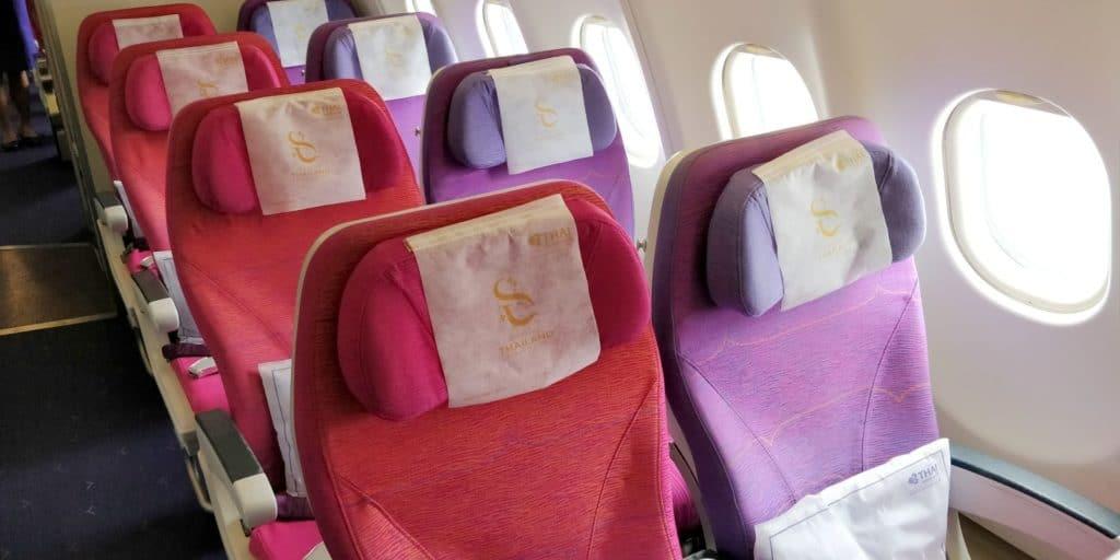 Thai Airways Economy Class Kurzstrecke Sitz