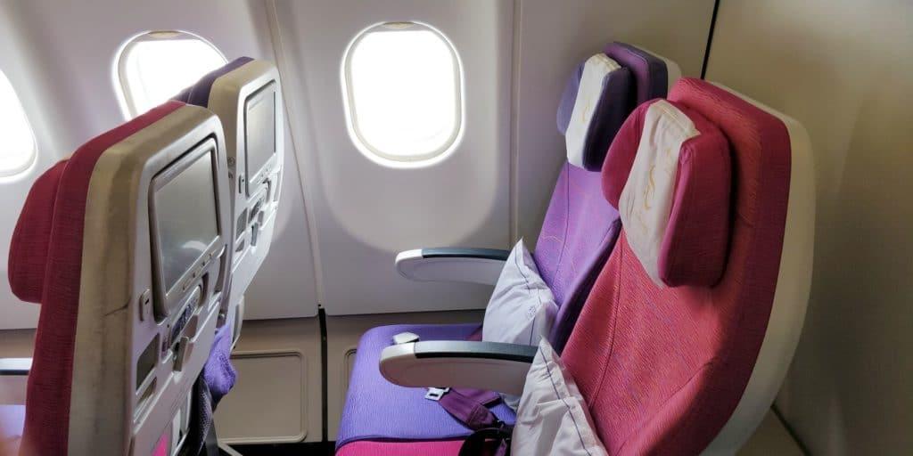 Thai Airways Economy Class Kurzstrecke Sitz 3
