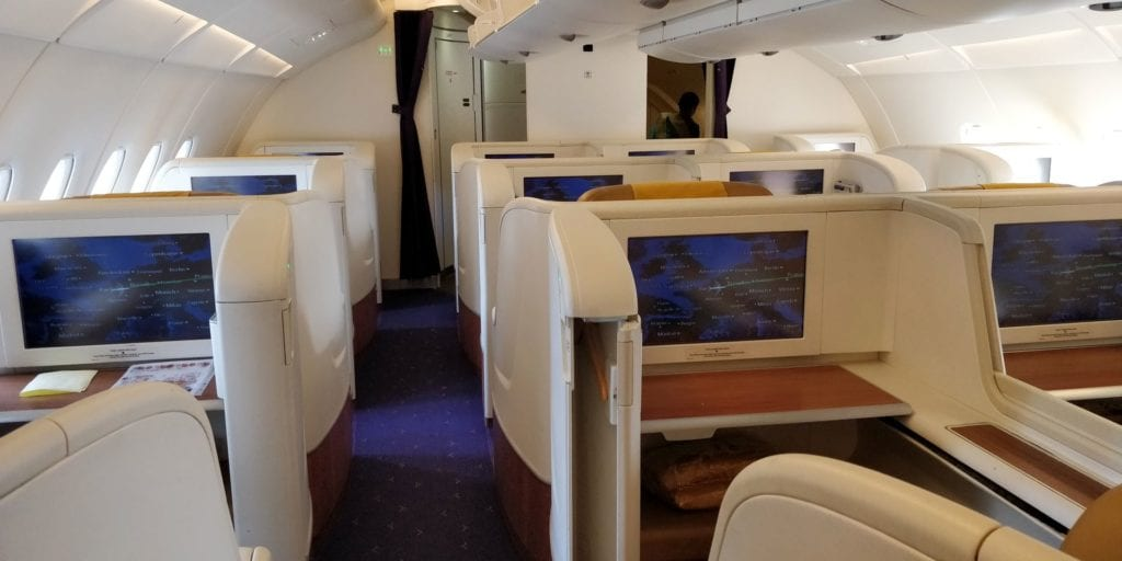 Thai Airways First Class Airbus A380 Kabine