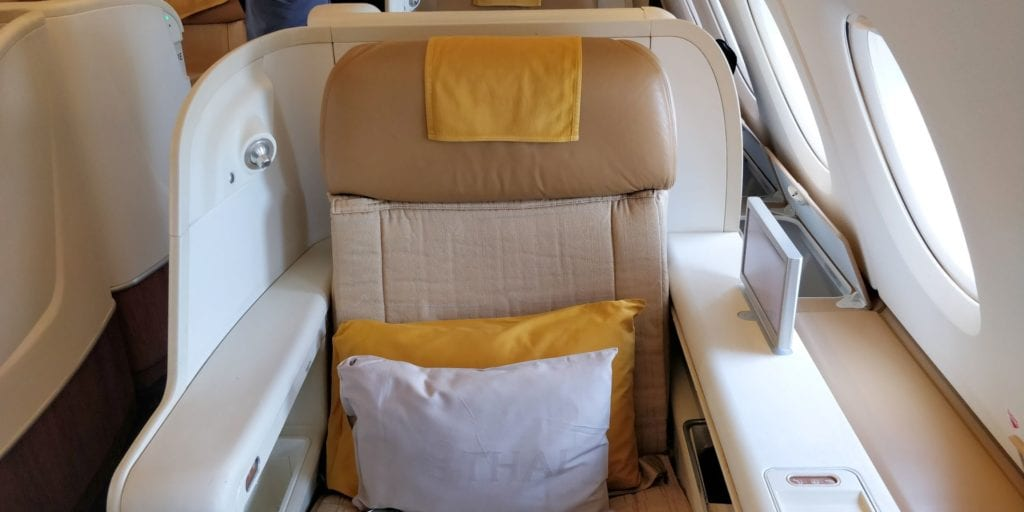 Thai Airways First Class Airbus A380 Sitz