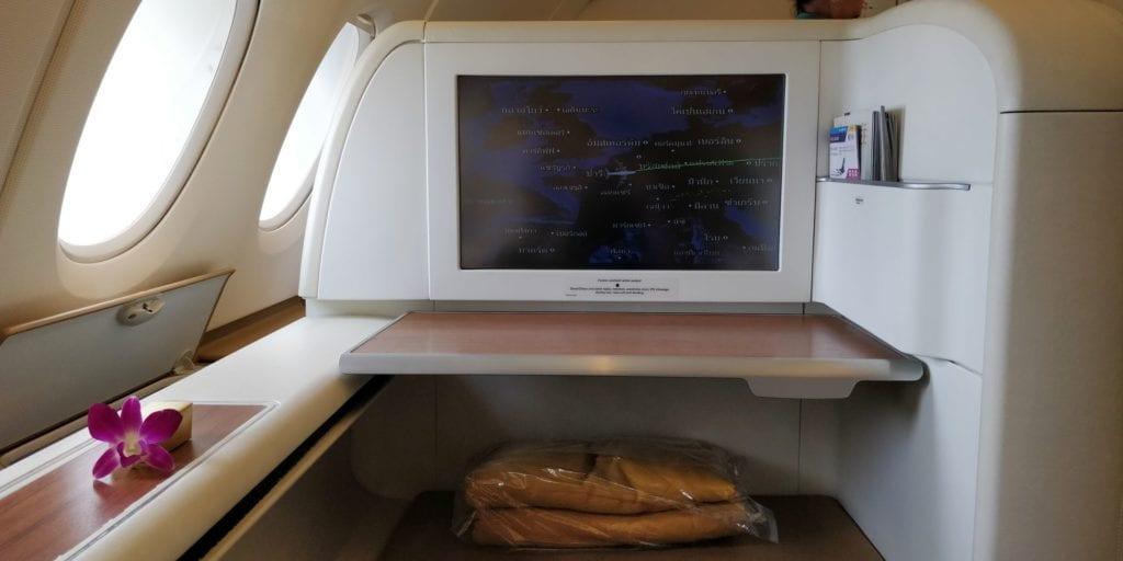 Thai Airways First Class Airbus A380 Sitz 2